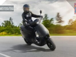 Ola Electric Scooter S1 Pro riding in track